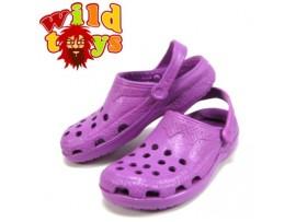 Wild Toys 1/6 Plastic Clogs #3 Purple _Sandal Now WT006C