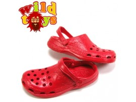 Wild Toys 1/6 Plastic Clogs #10 Red _Sandal Now WT006J