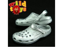 Wild Toys 1/6 Plastic Clogs #Sp2 Silver _Sandal WT006L