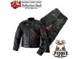 Wild Toys 1/6 Davidson Reflection Skull_ Black Jacket w/ pants Set _motor WT022Z