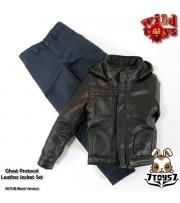 Wild Toys 1/6 Ghost Protocol_ Black Jacket Set w/ Blue pants _Leather-like WT019B