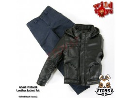 Wild Toys 1/6 Ghost Protocol_ Black Jacket Set w/ Blue pants _Leather-like WT019B
