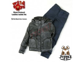 Wild Toys 1/6 Ghost Protocol_ Black Weathered Jacket Set w/ Blue pants_Now WT019D