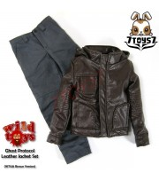 Wild Toys 1/6 Ghost Protocol_ Brown Jacket Set w/ Grey pants _Leather-like WT019A