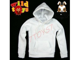 Wild Toys 1/6 Hoodies S2_ White w/ string + Pocket _Fashion WT007C
