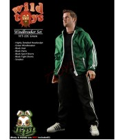 Wild Toys 1/6 Windbreaker_ Green Set w/ Head_Sports Jacket shorts sneaker WT017C