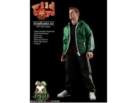 Wild Toys 1/6 Windbreaker_ Green Set w/ Head_Sports Jacket shorts sneaker WT017C