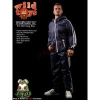 Wild Toys 1/6 Windbreaker_ Navy Set w/ Head_Sports Jacket shorts sneaker WT017D