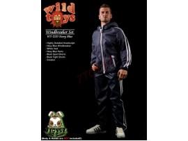 Wild Toys 1/6 Windbreaker_ Navy Set w/ Head_Sports Jacket shorts sneaker WT017D