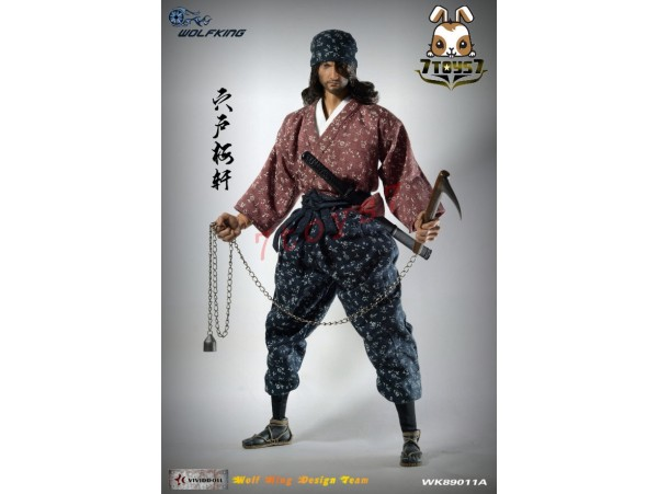 Wolfking 1/6 WK89011A Shishido Baiken_ Box Set _Samurai Now WK015Z