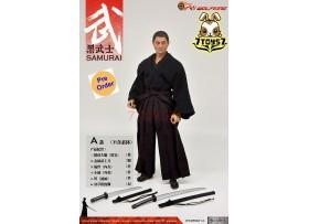 [Pre-order] Wolfking 1/6 WK89021A Samurai_ Clothing Set w/ Head _WK025A