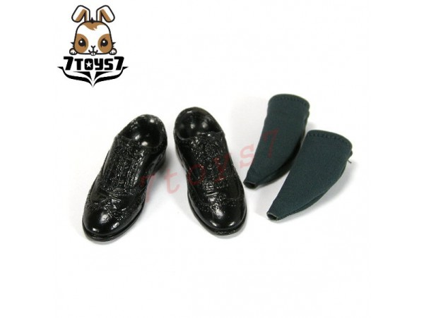 ZCWO 1/6 Mr Bean Deluxe_ Shoes + faked socks _Rowan Atkinson ZC World Now ZC040M