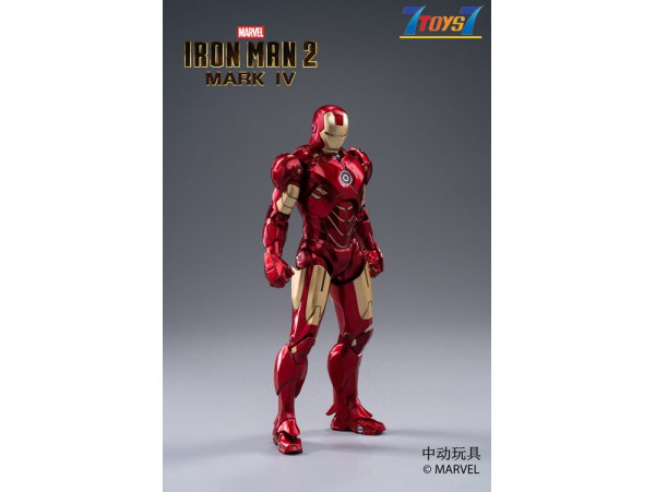 ZD Toys 1/10 Marvel Iron Man 2: Mark IV MK 4_ Box Set _ZT004Z