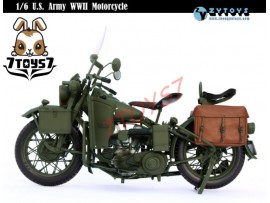 Zytoys 1/6 U.S. Army WWII Motorcycle_ Box _Captain America Die-cast Now ZY015Z