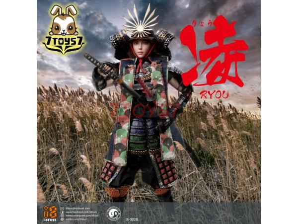 i8Toys 1/6 I8-002B Female Samurai - Ryou_ Black armor version Box Set _ZZ159D