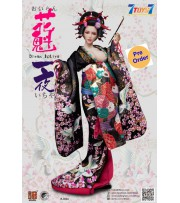 [Pre-order deposit] i8Toys 1/6 I8-C002A OiranIchiya clothing (Black Long Furisode)_ Set w/ Head _IET001A