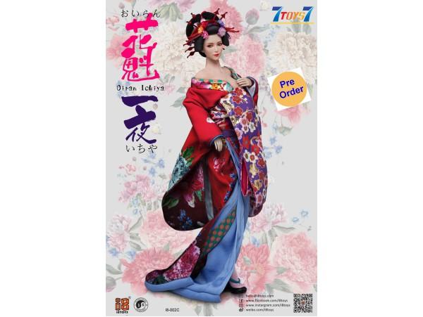 [Pre-order deposit] i8Toys 1/6 I8-C002C OiranIchiya clothing (Red Long Furisode)_ Set w/ Head _IET001C